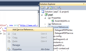 Add Service Reference in C# .Net - MS Visual Studio