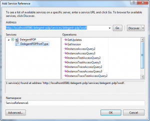 Add a service reference and generate a client stub from a WSDL in Visual Studio 2010